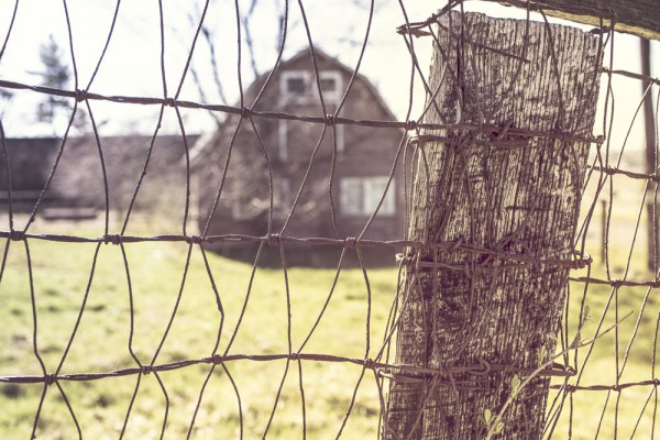 barn within barbed wires from Gratisography.com